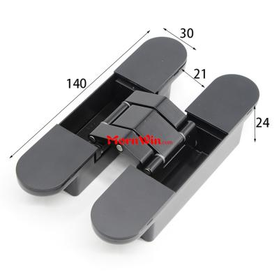 140mm Black soss concealed cross invisible hinge