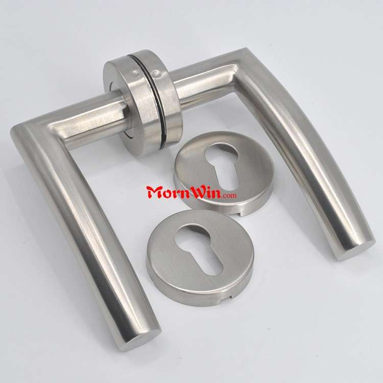 22mm tube stainless steel 304 interior lever brushed satin door handles