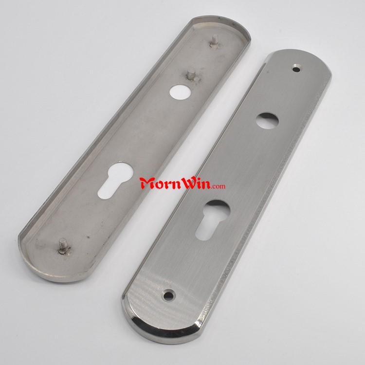 260mm length Stainless steel door lock handle escutcheon cover face back plate