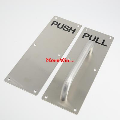 300 100 2mm Engraved 304 201 stainless steel Square Push and Pull Plate