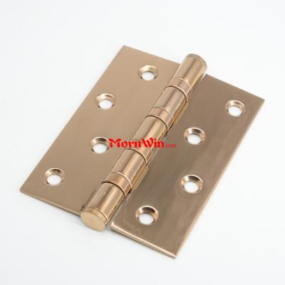 4 Inch polished stainless steel rose gold square ball bearing butt hinge