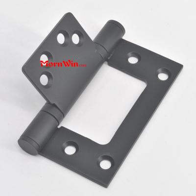 4 inch 304 stainless steel matte black sub mother flush door hinges