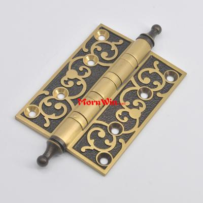 4 inch High quality European style solid brass wooden door hinge