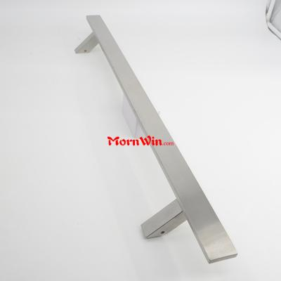 45 degree foot square tube bar stainless steel single door pull handle