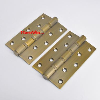5 inch AB finish antique Brass stainless steel ball bearing butt hinge for heavy door