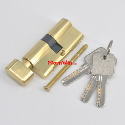 60 65 70 75mm Polished Entrance Security Double Brass Door Lock Euro Profile Cylinder