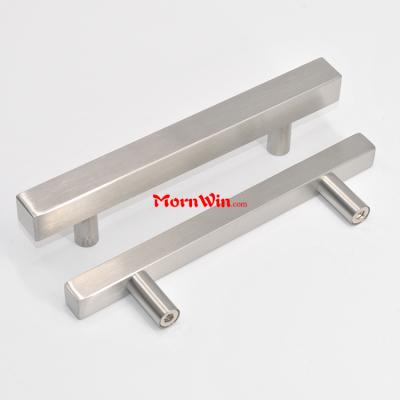 96mm 160mm 224mm Square bar Pull T Shape Furniture Cabinet Drawer Stainless Steel Handle