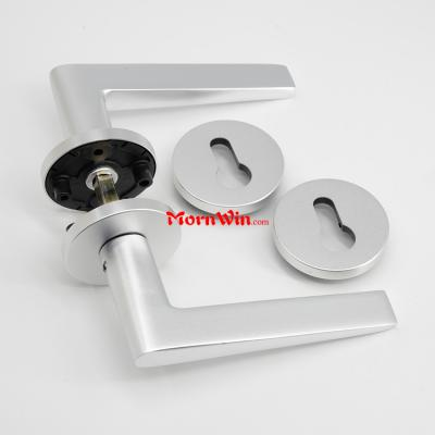 Aluminum interior door lever handle for wooden doors