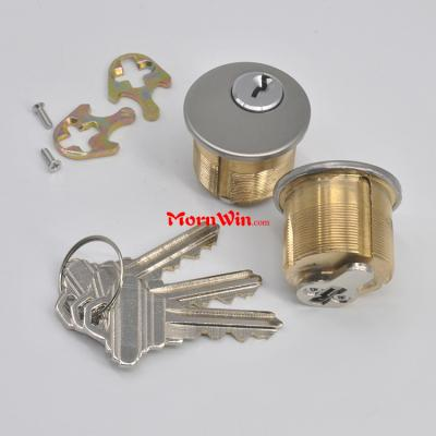 American round style small mortise lock brass cylinder