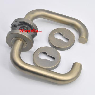 Antique Brass Plated AB Finish Stainless Steel Door Handle for timber door