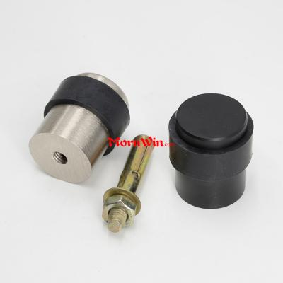 Black Aluminum Floor Mounted Cylinder Door Stopper