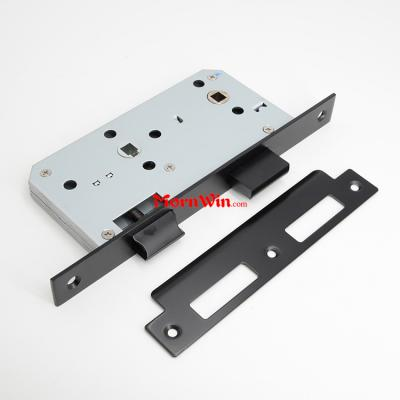 Black fire rated 55mm backset bathroom mortise lock 5578 7855