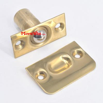 Brass circle Roller latch door lock front push ball catch interior elbow
