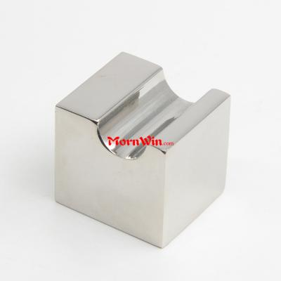 Bright Polished Stainless Steel Solid Square Cabinet Door Knob