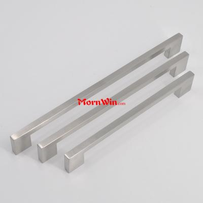 Cabinet furniture kitchen solid stainless steel square pull handle