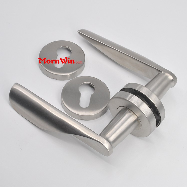China Factory High Quality Door Lock Handle Solid Stainless Steel Lever Handle