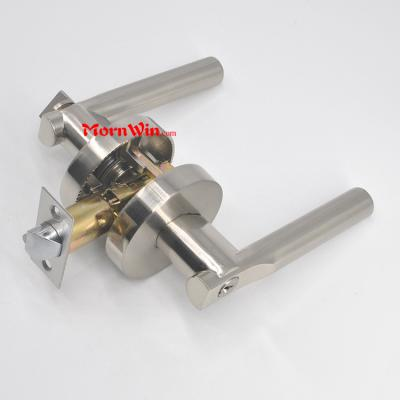 Entrance Door Hardware Heavy Duty Tubular Lever Round Door Handle Lock