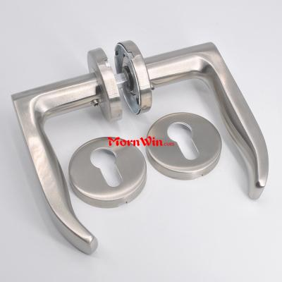 European Stainless Steel Tube Interior Lever wooden door handle