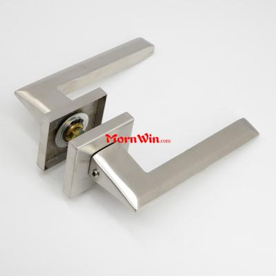 European door hardware sus 304 stainless stees solid lever door handle