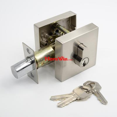 Heavy Duty Satin Nickel Zinc Alloy Square Door Lock Deadbolt