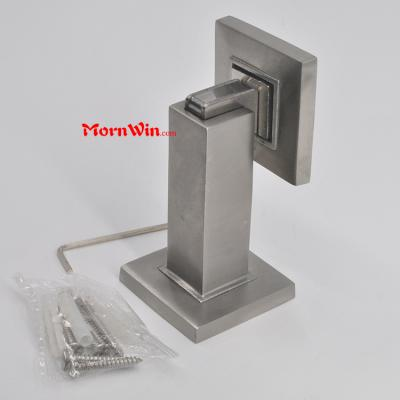 Heavy duty square stainless steel magnetic wall mounted door stopper