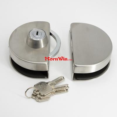 High quality oval double sided glass door lock with keys