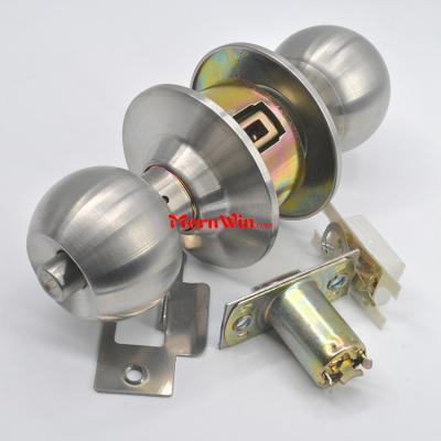 Hot sale Stainless Steel Hotel Cylindrical Ball knob Lock Knobset