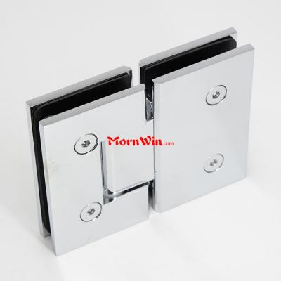 Hydraulic 180 Degree Glass To Glass Brass Glass Bathroom Shower Door Hinge Clip