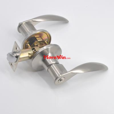 Jiangmen factory direct zinc alloy entrance tubular handle lever door lock