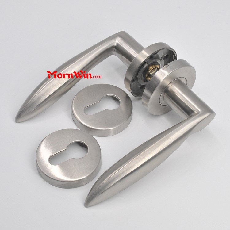 Jiangmen stainless steel American style solid lever residential door black die cast handle