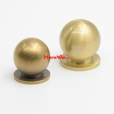 Mushroom shaped Solid Brass Round Single Hole Small Handle Knob