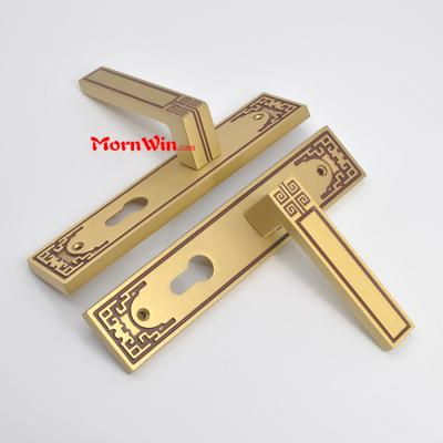 New design Champion Sales decorative brass gold polish door handle