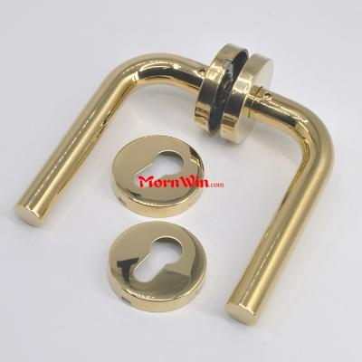 PVD Gold Plated SS304 Door Ironmongery Door Lever Handle