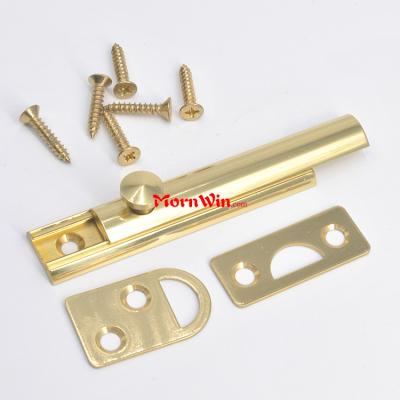 Polished Chrome Solid Brass Locking Brass Window Sliding Door Flush Bolt