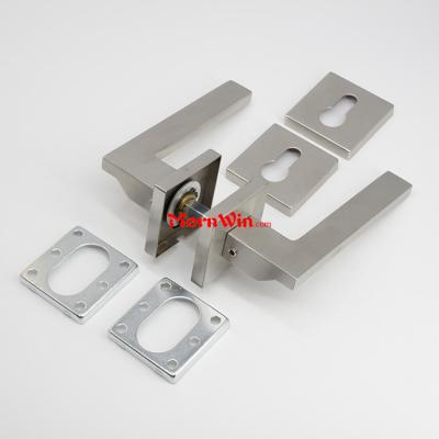 Polished High Class Stainless Steel Design Solid Casting Lever Door Handle Rosette