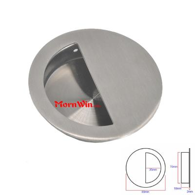 Round Stainless steel hidden furniture concealed cabinet door handle