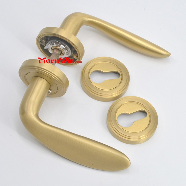 Satin Bronze Effect Internal Brass Lever Door Handle