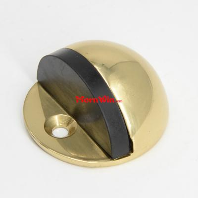 Satin Polished Brass Hot Sale Hemisphere Rubber Door Stopper