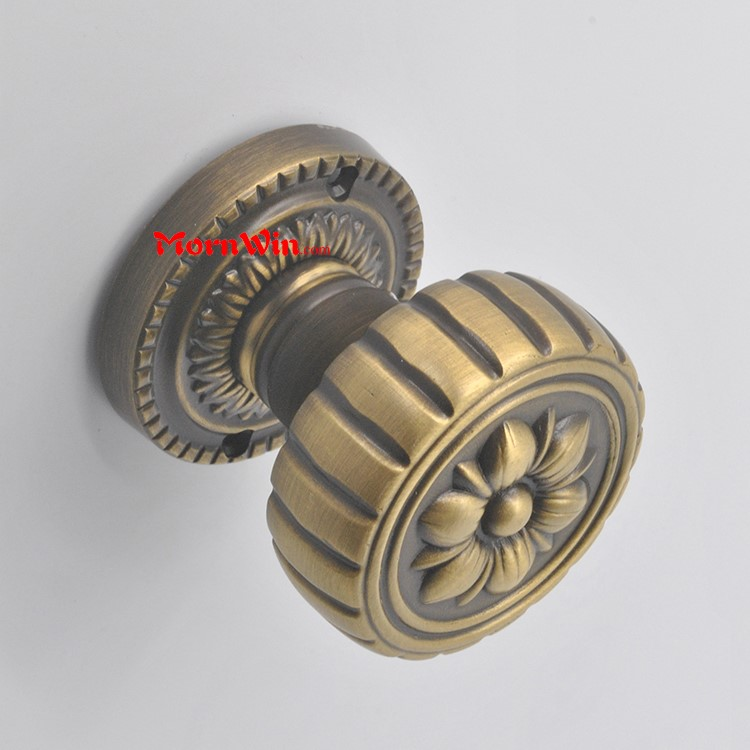 Solid Brass Back to Back Double Sided Pull Handle Knob Shower Door Knob