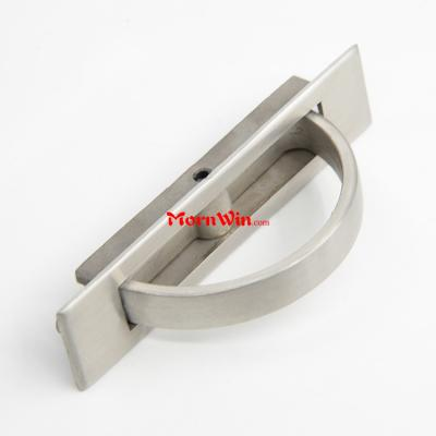 Solid stainless steel flush ring pull cabinet cupboard furniture recessed handle