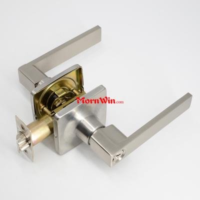 Square Rosette Zinc alloy tubular lever handle interior door lock