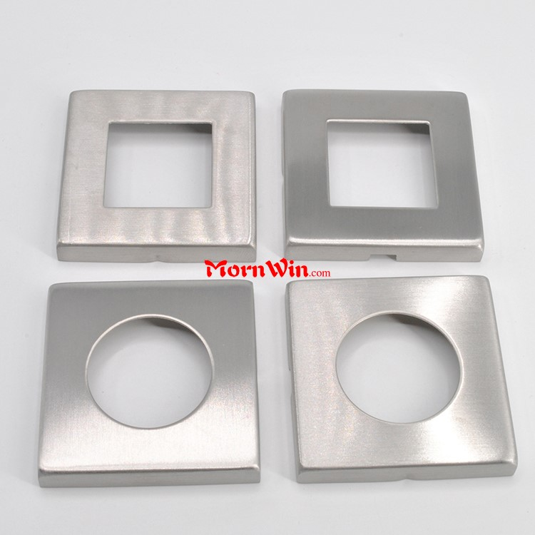 Square Shape Door Handle SUS304 h key escutcheon plate