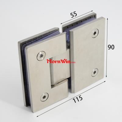 Stainless Steel 180 Degree Glass to Glass Shower Door Hinge