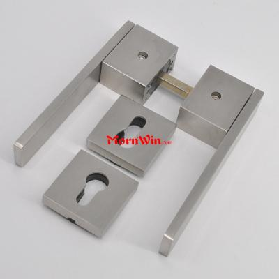 Stainless Steel 304 High Quality Solid square door Lever Handle