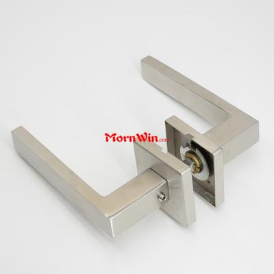 Stainless Steel 304 casting High Quality Solid casting square door Lever Handle