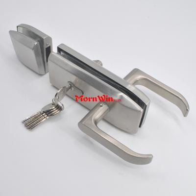 Stainless Steel Double Side High Quality Sliding Toilet Glass Door Lock