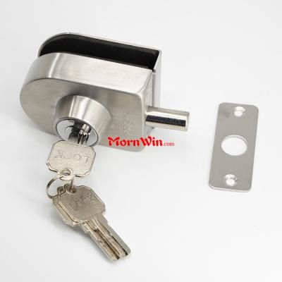 Stainless Steel Oval Shape Single Bolts Screw Mounted Push Pull Sliding Door Lock