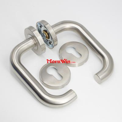 Stainless Steel Tube Lever Type Door Handle Modern Design Door Handles