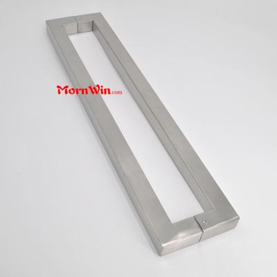 Stainless steel Satin finish sliding square glass door pull handle