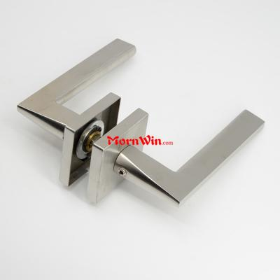 Stainless steel lever type handle round solid bar Door handle